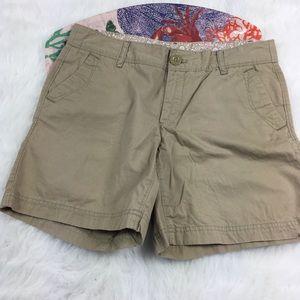 Eddie Bauer Tan Cotton Chino Shorts Size 2